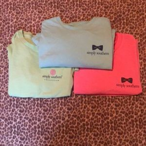 3 simply southern t-shirts